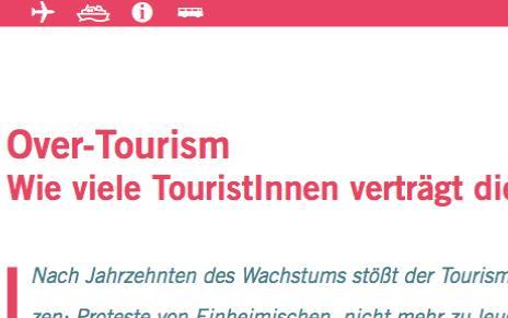 Cover Dossier Overtourism